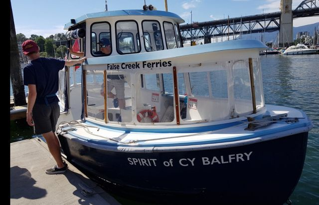 Fales creek ferry ride on