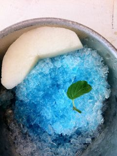 ひな菊のかき氷