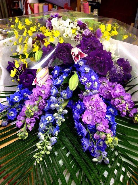 紫系の花束