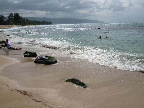ラニアケアビーチ 全景2