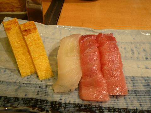 寿司の美登利 玉川高島屋店 中トロと白身