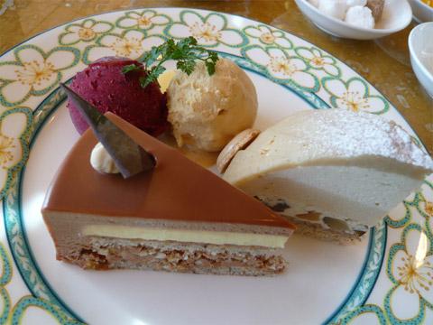 ソマーハウス ケーキセット(ケーキ2種&シャーベット)