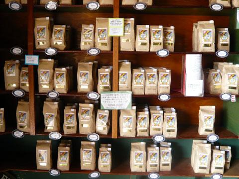 ハレイワ コーヒーギャラリー 棚