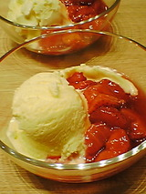 イチゴのコンフィチュール&アイスクリーム