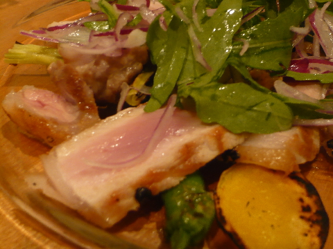 ダルマット恵比寿 赤茶豚のロースト アップ