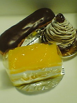 イル・プルー・シュル・ラセーヌ オレンジのショートケーキ他