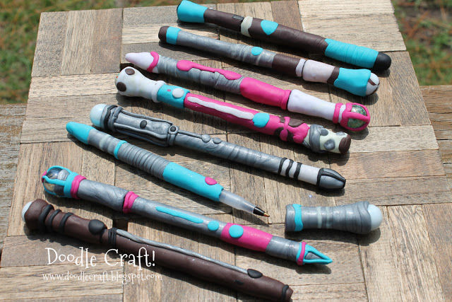removable lids pens custom sonic screwdrivers clay diy