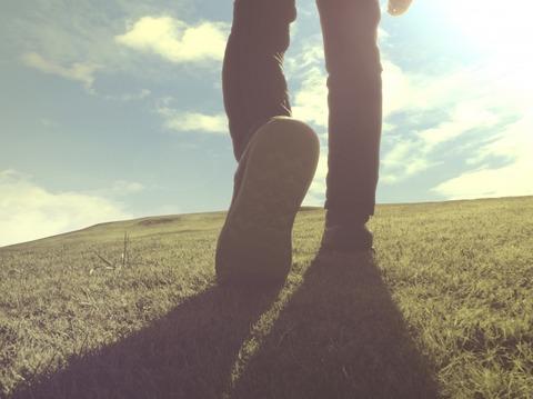 新しい一歩を踏み出す瞬間