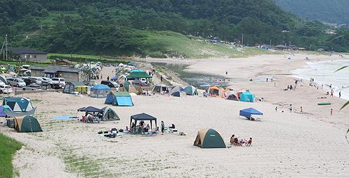 砂浜キャンプ