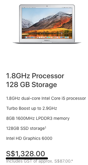 Buy MacBook Air - Apple (SG) 2018-01-08 12-26-17