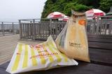 無人島でファミチキをたまごサンドに挟んで食べてみた