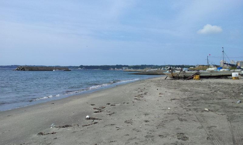 三浦海岸(津久井浜)のキス釣りポイント(2014年6月20日)
