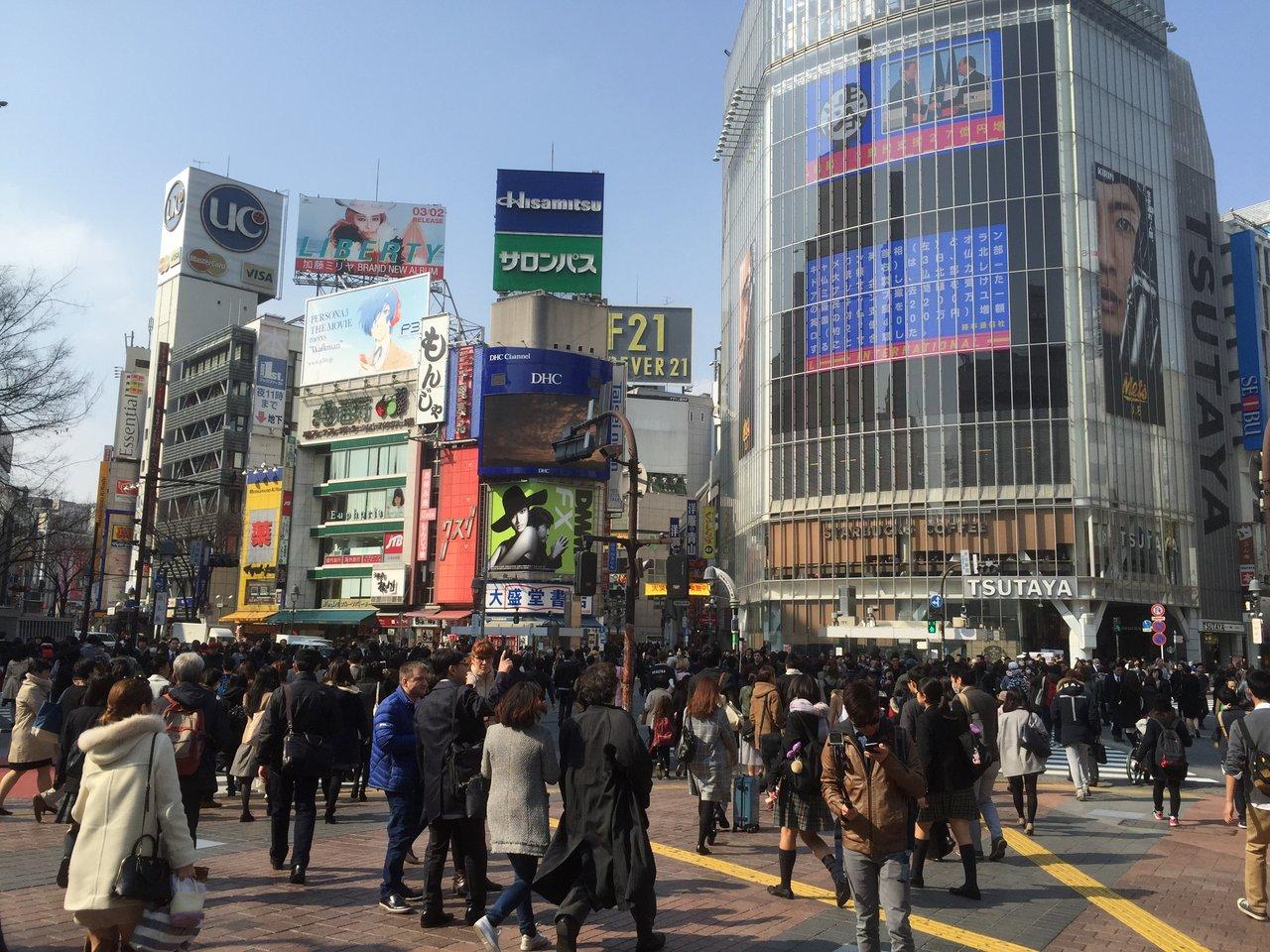 外国人にとって「渋谷クロス」はクロスタワーではなく、スクランブル交差点のことだった