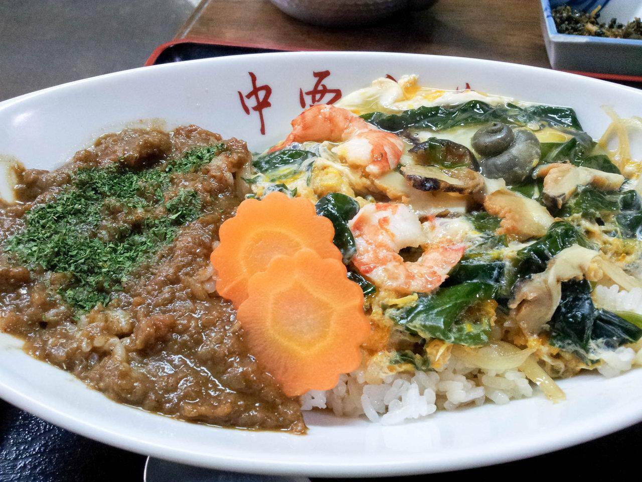 金印発見の地、志賀島「中西食堂」で食べる名物カレーさざえ丼