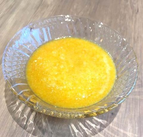 オレンジ色のゼリー