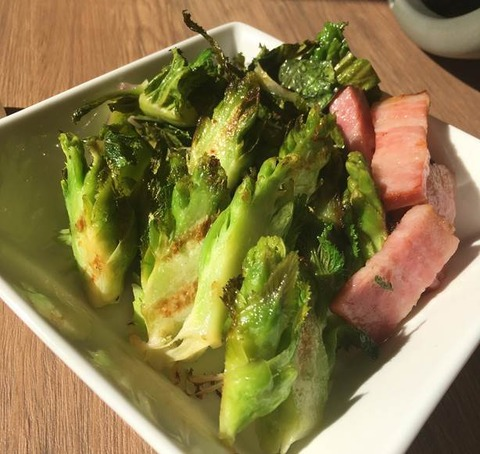子宝菜とベーコンの炒めもの