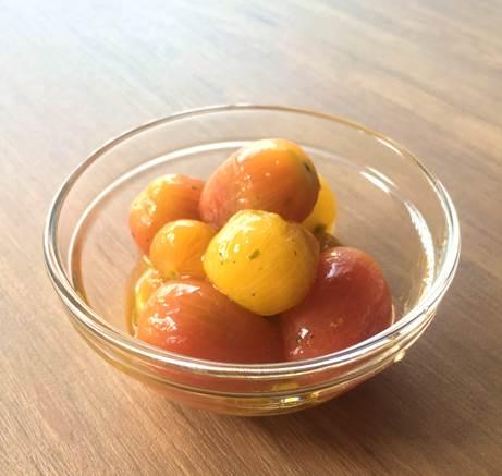 カラフルトマトマリネ試食