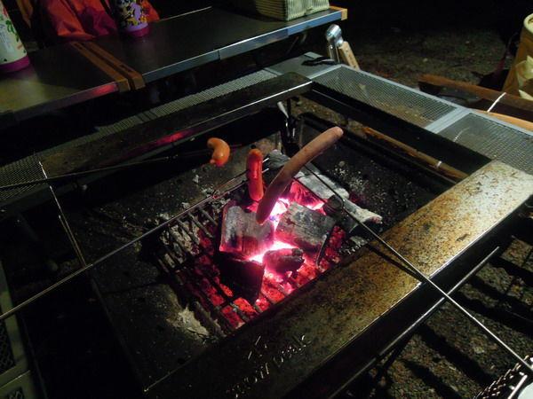 1日目夜焚火