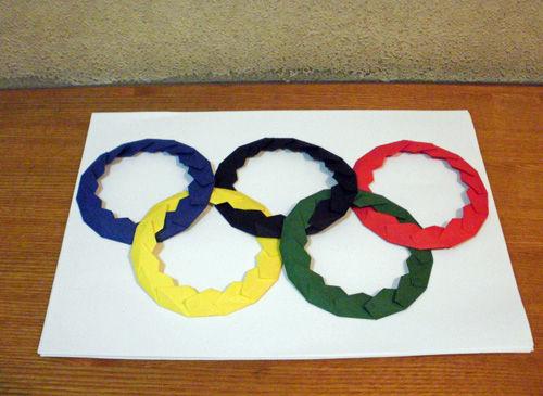 すべての折り紙 折り紙 メダル 簡単 : ... ごと : 折り紙教室・五輪マーク