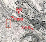 千歳橋周辺地図(昭和10年6月発行)大日本帝国陸地測量部