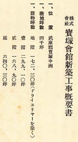 宝塚会館パンフ工事概要