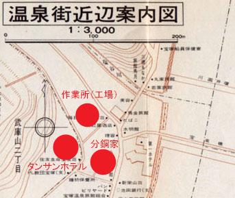 温泉街近辺案内図(ブログ用)