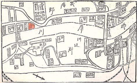 宝塚案内誌地図(松月楼マーク)