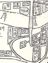 宝塚鉱泉宝来橋南地図