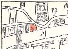 宝塚案内誌地図拡大(松月楼マーク)