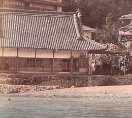 初代温泉場・手彩色カット