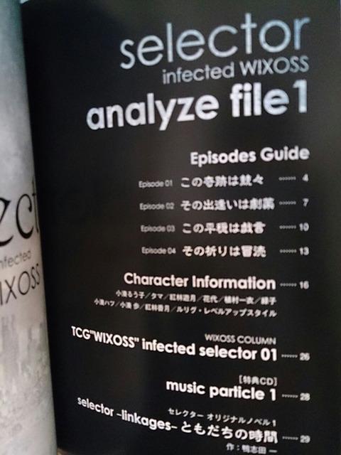 selector infected WIXOSS 特典ブックレットもくじ
