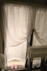 ダブルガーゼの目隠しカーテン