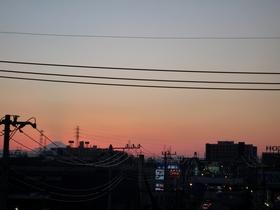 矢立て橋から富士山