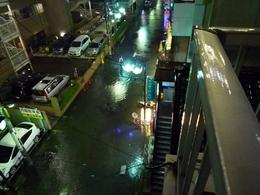 道路が浸水