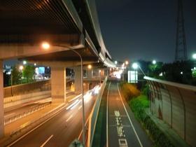 夜の外環道
