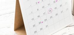 不倫妻の浮気とカレンダーのチェックマーク| 探偵事件簿-福岡
