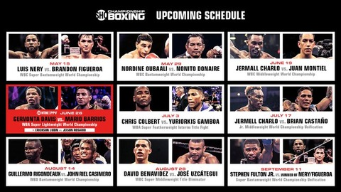 Showitme-Boxing-Schedule