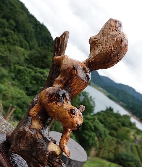 木彫りリス