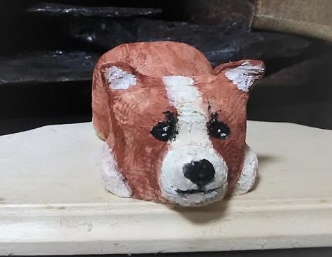 木彫りコーギー