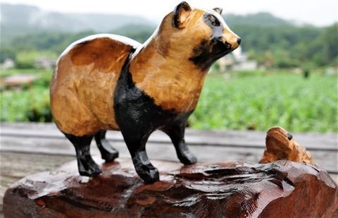 木彫りたぬき