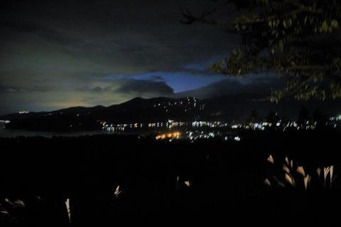 山中湖の夜景