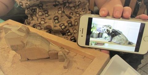 木彫りタヌキ教室2