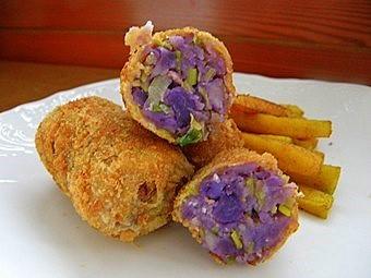 croquette de patates bleus