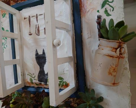 モルタル雑貨 窓際ガーデン