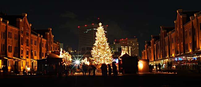 黄金町夕景+赤レンガ倉庫 クリスマスイルミネーション2012/OM-D