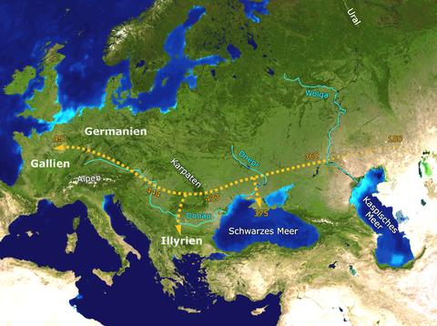 8-3 Hunnenwanderung
