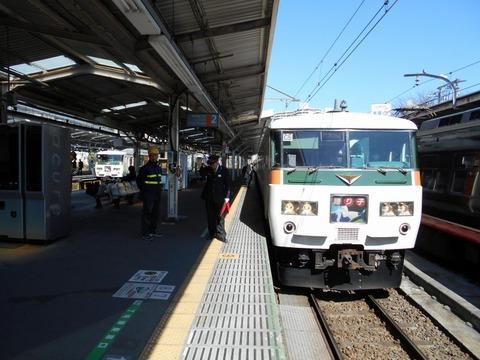 185系並び (1)