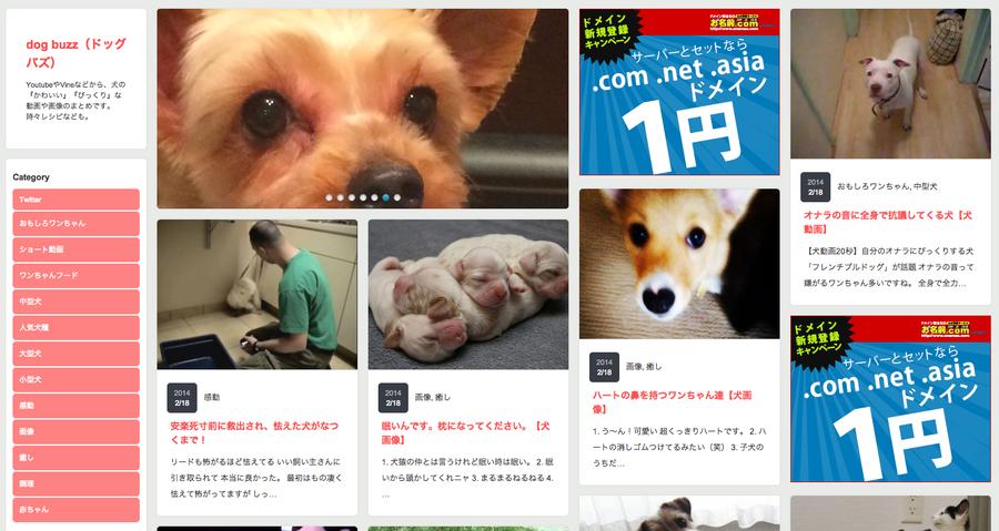 う〜ん新サイトがアクセス伸び悩み | dogbuzz(ドッグバズ)