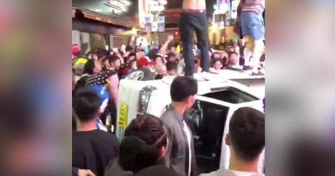 【朗報】渋谷ハロウィーンで軽トラックひっくり返した陽キャ4人逮捕wwwww