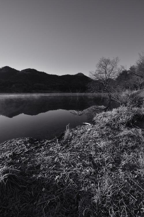 凍える湖岸